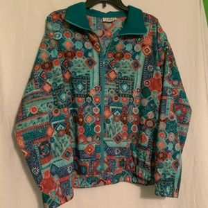 Womens Vintage Plus Windbreaker Jacket